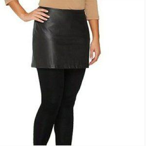 NWOT Legacy Faux Leather Mini Skirt w/ Legging Set